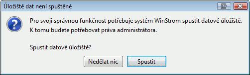 Okno se službami Windows